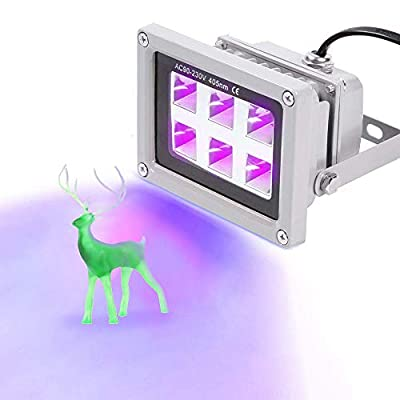 UniTak3D UV Resin Curing Light 405nm 6W for SLA/DLP 3D Printer and Solidify Photosensitive Resin with UK Plug