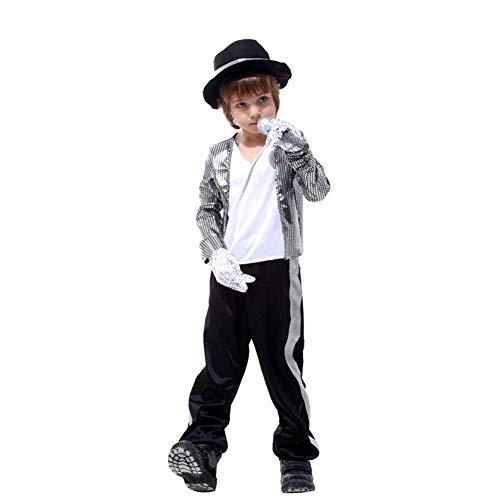 LOLANTA Jungen Halloween Kostüme Michael Jackson Kleidung Stage Performance Dancewear (8-9 Jahre)