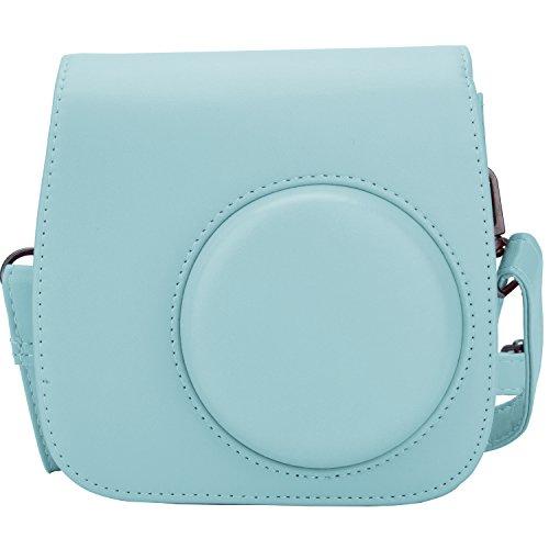 [Kamera Tasche für Fujifilm Instax Mini 8/ Mini 9] - ZWOOS Reise Kameratasche Gehäuse Taschen mit Schultergurt/Weinlese PU Leder für Fujifilm Instax Mini 8/ Mini 8S/ Mini 9 Tasche(Ice blau)