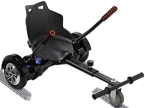 ZJWD Cool Hoverboard Kart Accesorios Ajustables para Todas Las Alturas, Todas Las Edades, Scooter Autoequilibrante De Dos Ruedas Compatible con Todos Los Hoverboards, como Un GO Kart,Negro