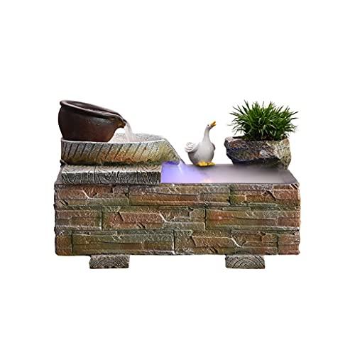 Cascada Zen Fuente De Mesa Fuente De Agua Que Fluye Decoraciones De Cascada De La Fuente Interior con Atomizador para La Decoración del Dormitorio En El Hogar Decoración (Model : A)