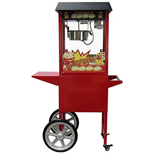Profi - Popcorn maschine mit Wagen, 2 - teilig