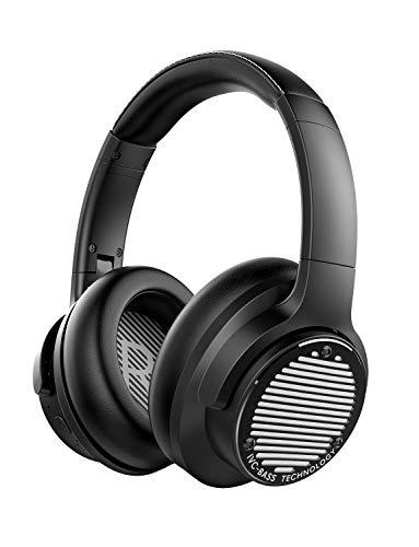 AUSDOM Bass One Drahtloser Kopfhörer mit Aktiver Geräuschunterdrückung, Bluetooth 5.0, IVC-Bass Kopfhörer, Faltbare, 50 Stunden Laufzeit, Integriertes Mikrofon, Typ-C Schnellladung