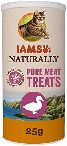 IAMS Naturally 100% Pure Meat Treats for Cats, Salmon 20 g
