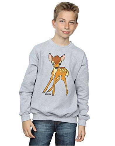Disney Jungen Bambi Classic Bambi Sweatshirt 7-8 Years Sport Grey