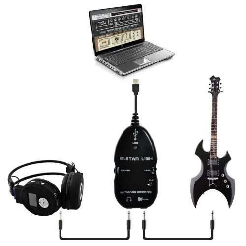 USB adaptador para conectar la guitarra con PC y MAC, con interfaz ...