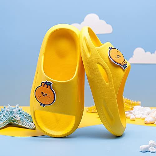 MEIYOUMK Kinder Sandalen Kinder Hausschuhe Baby Jungen Mädchen Cartoon rutschfeste Hausschuhe Smiley/grünes Blatt/Flügel/Einfarbiges Muster Strand Pool Duschpantoffeln