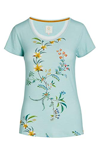 PiP Studio Tilly Grand Fleur Top Short Sleeve Größe 40, Farbe Blue