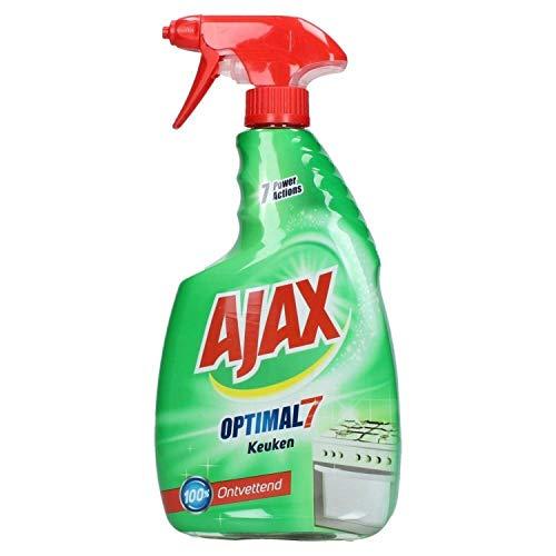 3er Pack - Ajax Küchenreiniger - Optimal 7 - entfernt leicht Fett von allen Küchenoberflächen - 750 ml
