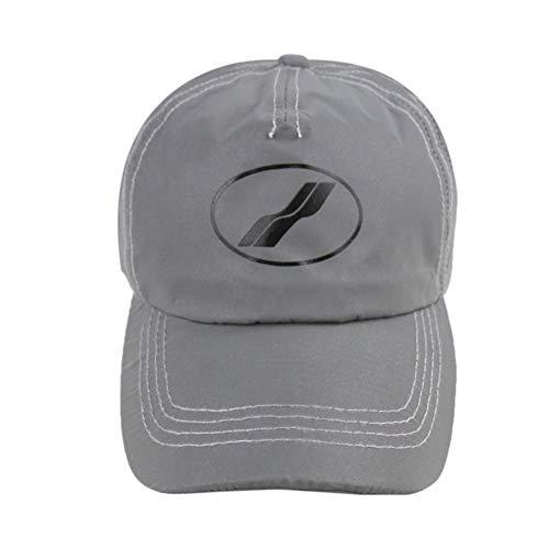 NOBRAND Impresión Reflectante Luminoso Suave-Parte Superior Curvada Aleros Gorra de béisbol Sombrero de Sol Ocasionales (Color : Grey, Size : 56-60cm)