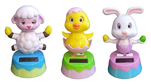 2016 Solar Powered Dancing Easter Bunny, Lamb, and Chick - 3 Piece Set …