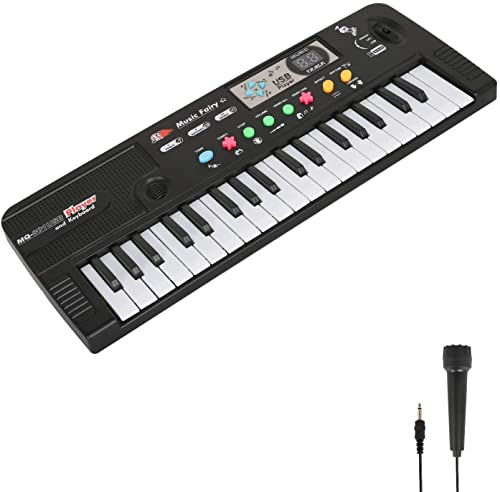 Electronic Keyboard Piano for Kids 61 Keys Kids Piano with LED Display, Music Stand...