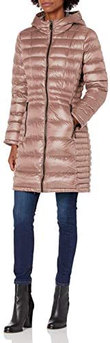 Calvin Klein Women s Walker Packable Jacket with Hood Pink M product image