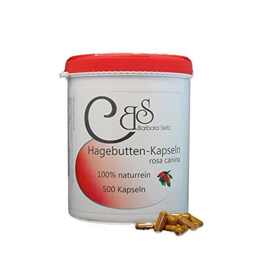 Hagebuttenpulver rosa canina Kapseln 500 Kps | Gelenke | Beweglichkeit | für bewegliche Gelenke | hochdosierter Vitamin C Gehalt | Barbara Seitz