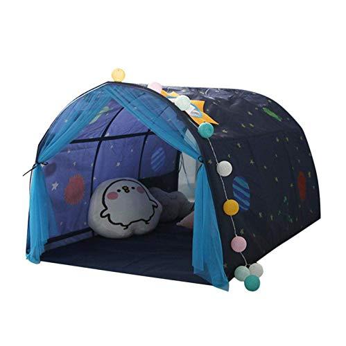 Yiyu Kinderspielzelt, Spielzelt Für Kinder, Baby Kinderzelt Spielhaus, Bettzelt Tent Deko, Geschenke Für Jungen Und Mädchen, Blau, 140 * 100 * 80Cm x (Color : Blue)