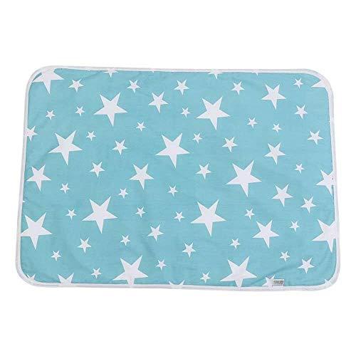 Yuyanshop Alfombrillas para cambiar pañales de bebé ultra suaves, grandes, lavables, de algodón, para bebé, para orina, pañales, fundas desechables para pañales (#C Dream Stars)