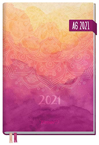 Chäff-Timer Mini A6 Kalender 2021 [Mandala] mit 1 Woche auf 2 Seiten | Terminplaner, Wochenkalender, Organizer, Terminkalender mit Wochenplaner | nachhaltig & klimaneutral