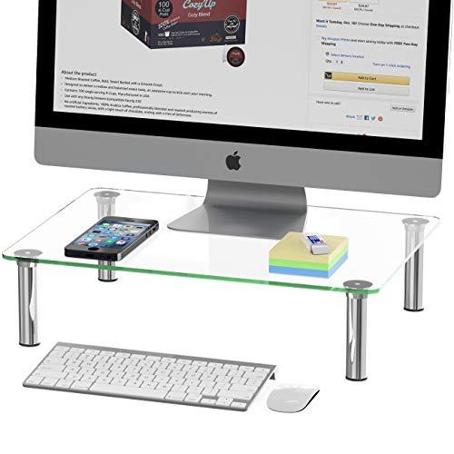 SimpleHouseware - Elevador para monitor de ordenador, cristal