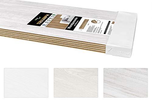 TRIUMPH Paneele aus MDF, 200x23,8cm - Moderne Wand- & Deckenverkleidung mit Holzpaneelen - (Klassik weiß, 6,9 Quadratmeter) Holzoptik Paneele Küche
