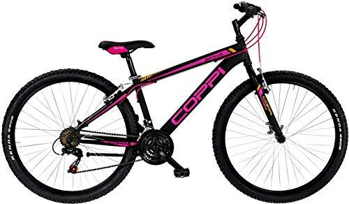 Coppi 27,5 Zoll Mountainbike MTB Brave Lady 21 Gänge Schwarz Pink 38 cm Rahmengröße