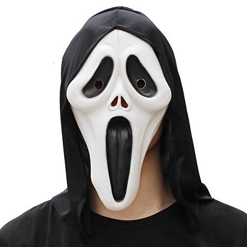 PartyHop Máscara de Cabeza Completa de Látex Fantasma Halloween