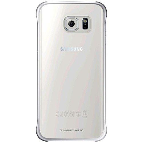 Samsung Custodia Clear Cover per Galaxy S6 Edge, Argento