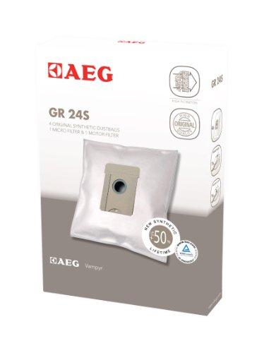AEG GR 24S Pack de 4 bolsas, 1 microfiltro, 1 filtro motor, compatible con gama Vampyr TC, Acero
