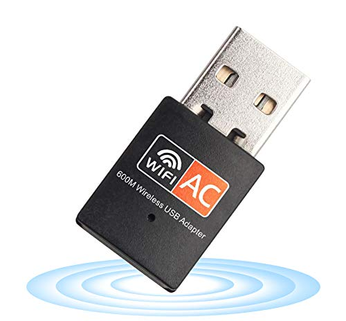 Adaptador USB WiFi – Dual Band 2.4G/5G Mini Wi-fi ac tarjeta de red inalámbrica con antena de alta ganancia para computadora portátil de sobremesa, soporte Windows XP Vista/7/8
