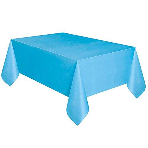 ATpart tafelkleed, feest, verjaardag, tafelkleed, wegwerpbaar, kunststof, tafelkleed, pure kleur, tafelkleed, party supplies lichtblauw
