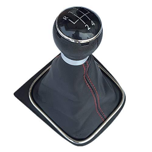 Red LÍNEA 5 Velocidad Coche Engranaje MANQUILLA Tabla DE Polvo DE BOTOR/Fit For - Volkswagen VW Golf 6 Vi MK6 Jetta 5 MK5 V/Car Styling
