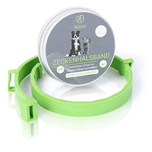 Nutrani Zeckenhalsband für Katzen, kleine Hunde und Welpen | größenverstellbar und wasserfest – Zuverlässiger Zecken- und Insektenschutz gegen Zecken, Mücken, Flöhe und Milben – bis zu 8 Monate Schutz