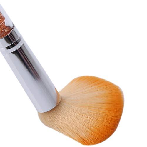 Weisin Poudre Libre Maquillage Brosses Grandes Fibres De Stuc Cheveux Strass Poignée Poussière Glitter Poudre Remover,Orange