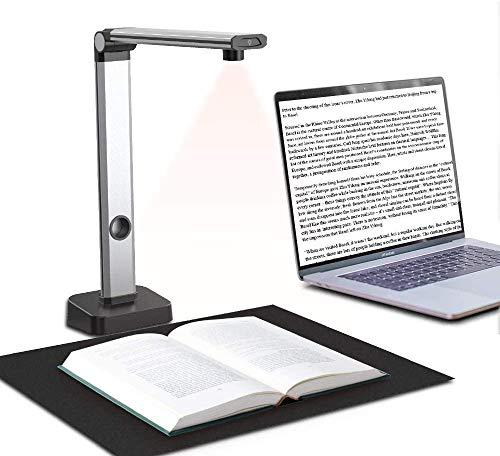 JOYUSING Scanner per libri e documenti HD da 14 MP, appiattimento automatico e acquisizione formato A3,...