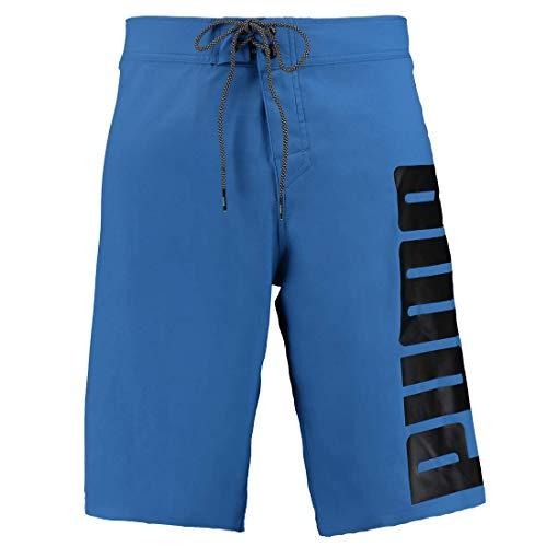 PUMA Herren Lange Badehose Badeshorts Long Board Swim Shorts, Farbe:Blue, Bekleidungsgröße:L