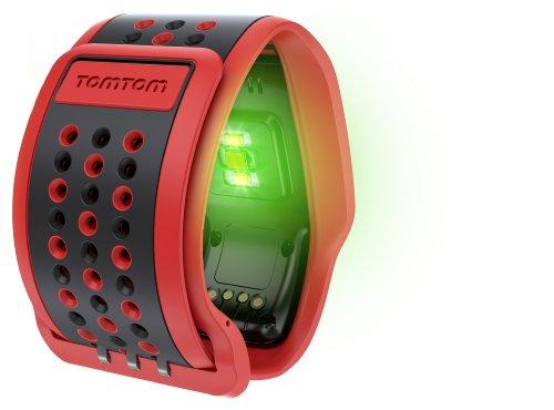 TomTom Runner Cardio Orologio GPS con Cardiofrequenzimetro Integrato, per Corsa Outdoor e Indoor, Rosso/Nero