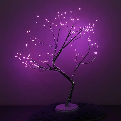¡Liquidación! Watopi - Luces solares para árbol de Navidad, 108 LED, luz de árbol de bonsái, luces decorativas para jardín, impermeable, ahorro de energía, para patio