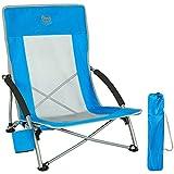 Timber Ridge Chaise de Plage Pliable Portable Fauteuil de Camping Basse Dossier Haut en Maille...