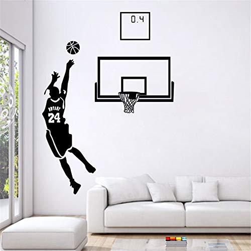 Kobe Bryant Wandtattoo Sport Thema Wandtattoos Basketball Star Aufkleber für Wohnzimmer und Boy `s Room The Miraculous 0.4s Lore von Kobe Bryant