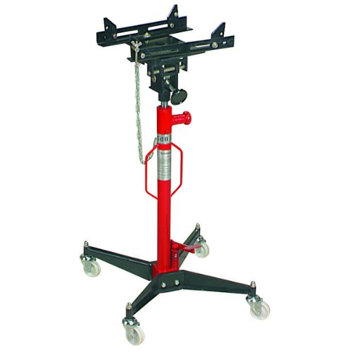 1100 Lb. High-lift Transmission Jack with Hands-free Foot Pump