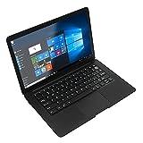 Selcouthlie Laptop de 12,5 Pulgadas N3350 4GB + 64GB Windows 10 EdicióN del Hogar 2.4G / 5G WiFi 4.0 Laptop de Aprendizaje PortáTil Enchufe de la UE