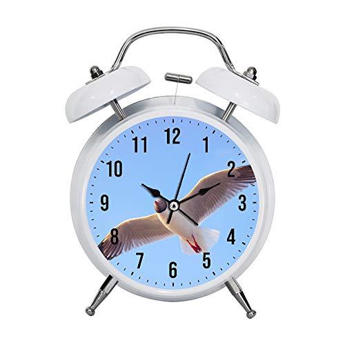 PGTASK Kinderwekker, retrostijl, wijzers, wekker, sterke nachtkastjes, decoratie, close-up, fotografie van een vliegende vogel