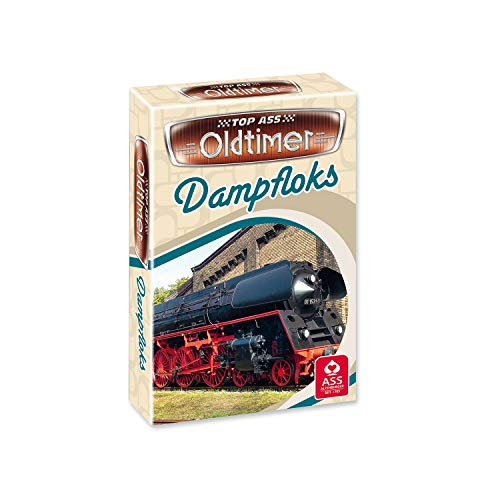 ASS Altenburger 22571453 - TOP ASS Oldtimer - Dampfloks, Quartett, Kartenspiel