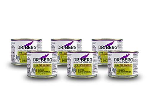 Dr. Berg pro-SCHONKOST Nassfutter für Katzen: Diätfutter bei Magen-Darm-Problemen & Durchfall (6 x 190 g)