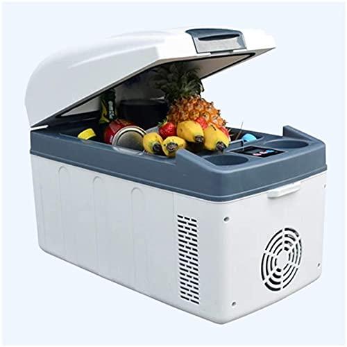 TANKKWEQ Frigorífico portátil refrigerador compacto refrigerador mini refrigerador contador de tor pequeño congelador insulina eléctrica refrigerador eléctrico y calentador para autos Home 20l con AV2