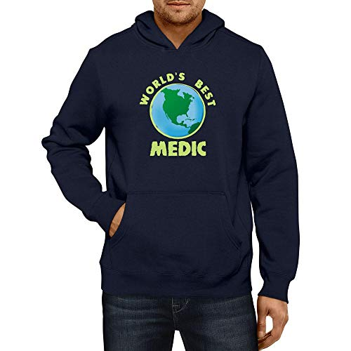 Idakoos World'S Best Medic Planet Sudadera con Capucha
