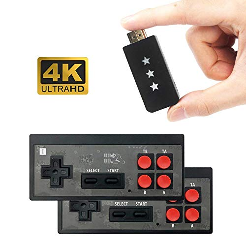 Retro Spielekonsole - 4K HDMI Videospielkonsole Eingebaut In 568 Classic Games Mini Retro Konsole Wireless Controller HDMI Ausgang Dual Player