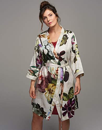 Essenza Kimono Fleur Flores Peonía Tulpen algodón satén, algodón, Blanco, medium