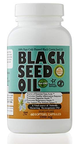 Premium Black Seed Oil Liquid Softgel Capsules 2.20% Thymoquinone Non-GMO Made from Cold Pressed Black Cumin - Made in The USA - 60 Capsules (2000mg Serving Size) Halal Supplement