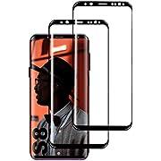 KUTUKU Galaxy S8 Panzerglas Schutzfolie, [2 Stück] Hohe Qualität Gehärtetem Glass [Full Coverage] [Anti-Fingerabdruck] [Blasenfrei] [Anti-Kratzer] Panzerglasfolie für Samsung Galaxy S8