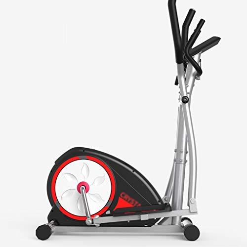 Elípticas Bicicleta de Ejercicio Vertical estacionaria con 8 Niveles de Resistencia magnética Gimnasio Interior Bicicleta de Spinning silenciosa (Color : Gray, Size : 104 * 48 * 160cm)